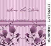 vector flower card  save the... | Shutterstock .eps vector #1086432893