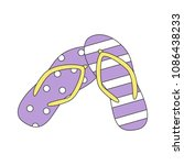 beach slippers. colorful summer ... | Shutterstock .eps vector #1086438233