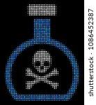 poison retort halftone vector... | Shutterstock .eps vector #1086452387