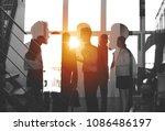 businessmen that work together... | Shutterstock . vector #1086486197
