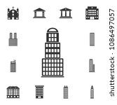 residential building icon.... | Shutterstock .eps vector #1086497057