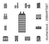 residential building icon.... | Shutterstock .eps vector #1086497087