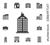 residential building icon.... | Shutterstock .eps vector #1086497147