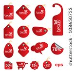 red tag beauty multishape   for ... | Shutterstock .eps vector #108650723