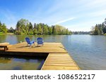 Lake Spring Waterfront With...