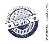 blue earn more money distressed ... | Shutterstock .eps vector #1086532793