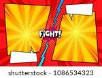 comic book versus template... | Shutterstock .eps vector #1086534323