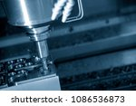 the cnc milling machine cutting ... | Shutterstock . vector #1086536873