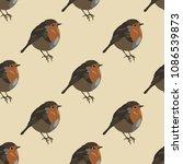 seamless geometrical polka dot... | Shutterstock .eps vector #1086539873