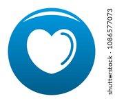 poisoned heart icon. simple... | Shutterstock .eps vector #1086577073