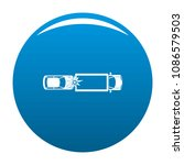 car injury icon. simple... | Shutterstock .eps vector #1086579503