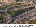 bangkok expressway top view ...   Shutterstock . vector #1086616973