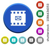send movie as email round color ... | Shutterstock .eps vector #1086636053