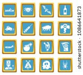 fears phobias icons set vector... | Shutterstock .eps vector #1086641873