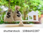 home loan   reverse mortgage or ...   Shutterstock . vector #1086642287