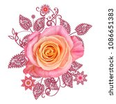 decorative decoration  paisley... | Shutterstock . vector #1086651383