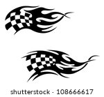 checkered flag with black... | Shutterstock .eps vector #108666617