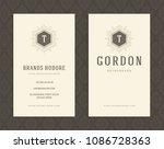 luxury business card template... | Shutterstock .eps vector #1086728363