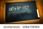 pythagorean theorem a2 b2 c2... | Shutterstock . vector #1086728483