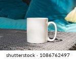 white blank coffee mug mock up...   Shutterstock . vector #1086762497