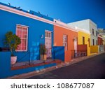 bo kaap  district in cape town  ... | Shutterstock . vector #108677087