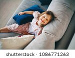 happy children are sitting on...   Shutterstock . vector #1086771263