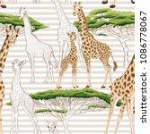 seamless pattern  background ... | Shutterstock .eps vector #1086778067