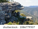 Small photo of The Balconies, also know as the 'Jaws of Death', in the Grampians National Park - Halls Gap, Victoria, Australia