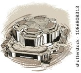 landmarks of sofia   national... | Shutterstock .eps vector #1086808313