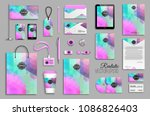corporate identity template set.... | Shutterstock .eps vector #1086826403