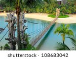 landscape in sentosa, Singapore - stock photo