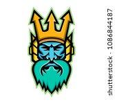 mascot icon illustration of...   Shutterstock .eps vector #1086844187