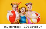 funny funny happy children ... | Shutterstock . vector #1086848507