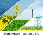 renewable energies and... | Shutterstock . vector #1086868577