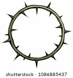 crown of thorns vector logo... | Shutterstock .eps vector #1086885437