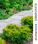 beautiful home garden allotment ... | Shutterstock . vector #1086919373