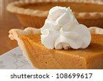Pumpkin Pie With Swirls Of...