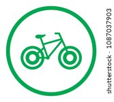 bicycle icon. bike icon. vector ... | Shutterstock .eps vector #1087037903