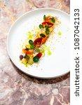 fine dining  elegant fish... | Shutterstock . vector #1087042133