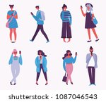 vector illustration of fashion... | Shutterstock .eps vector #1087046543
