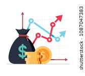 income increase strategy.... | Shutterstock .eps vector #1087047383