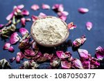 organic and herbal face pack of ... | Shutterstock . vector #1087050377