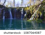 the plitvice lakes national... | Shutterstock . vector #1087064087