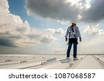 construction engineer wear... | Shutterstock . vector #1087068587