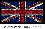 united kingdom flag concept... | Shutterstock .eps vector #1087077143