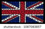 english state flag composition... | Shutterstock .eps vector #1087083857