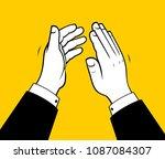 business man clapping hands   Shutterstock .eps vector #1087084307