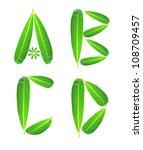 alphabet from plumeria leaf | Shutterstock . vector #108709457