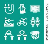 sports related set of 9 icons... | Shutterstock .eps vector #1087105973