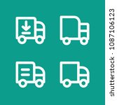 lorry related set of 4 icons...   Shutterstock .eps vector #1087106123